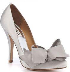 <3 bow ties on shoes! via Badgley Mischka
