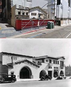 hollywood brown derby on vine street 1928 and now