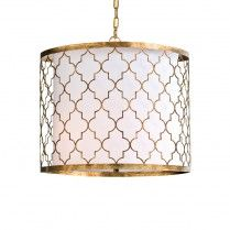 Brass Arabesque Pendant Light www.barbarapapa.com