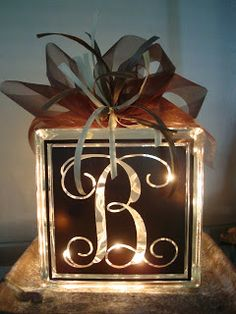 Elle.Bee.Gifts: glass blocks