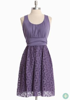 Simply Charming Curvy Plus Dress In Purple  42.99 at shopruche.com. This versatile purple dress is rendered in a soft jersey knit with a lacy skirt. Finished with delicate ruching, a defined empire waistline and the perfect amount of stretch. Wear casually with flats or dress up with classic pearls for effortless sophistication., ,  Top: 95% Rayon, 5% Spandex,  Skirt: 85% Cotton, 15% Nylon,  Mad...