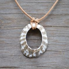 Found Sea Shell Necklace Nautical Natural Simplistic by ThistleTin, $ 20.00 (for knot as much as shell)