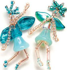 Dancing Fairy Charms - Interweave. Made some of these years ago for my mom.