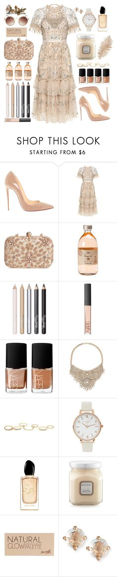 """""""CVRCHES """"Clearest Blue"""""""" by ashblondredhed ❤ liked on Polyvore featuring Christian Louboutin, Needle & Thread, Glint, Pop Beauty, NARS Cosmetics, Bebe, Charlotte Russe, Olivia Burton, Giorgio Armani and Laura Mercier"""