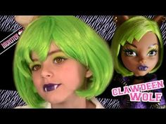 cute *.* Clawdeen Wolf Dawn of the Dance Monster High Doll Costume Makeup Tutorial for Halloween