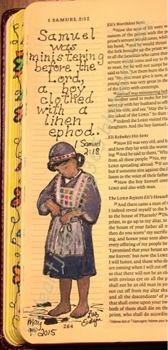 Easy Bible Art Journaling Journey: 1 Samuel 2:18 (May 9th)
