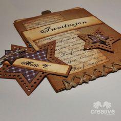 Invitasjon og bordkort - konfirmasjon