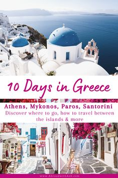 Get ready for one epic trip to Greece! Discover where to go, how to travel between the islands & more - here's my Greece 10 day itinerary! If you're planning a trip to Greece and overwhelmed with where to start, you've come to the right place. This 10 day Greece itinerary is perfect for first-timers. You'll get an idea of how many days to spend in each destination, what to do, how to get to and from each place, and more. #greece #greekislands #mykonos #athens #santorini #paros… Mykonos, Santorini, Greece Itinerary, Greece Travel, European Tour, European Travel, Amazing Destinations, Travel Destinations, Europe Travel Guide