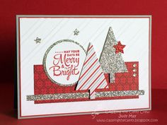 Stampin Up 'Lots of Joy' with 'Merry Moments' DSP. Judy May, Just Judy Designs