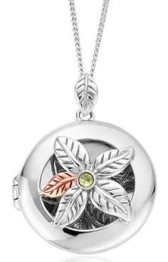 Clogau Pendant Awelon Peridot Locket Silver | C W Sellors Fine Jewellery and Luxury Watches