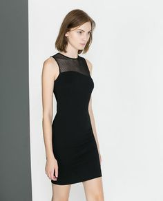 ZARA - TRF - TUBE DRESS WITH COMBINATION NECKLINE