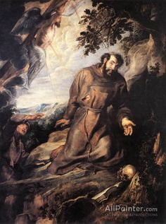 Peter Paul Rubens St Francis Of Assisi Receiving The Stigmata oil painting reproductions for sale