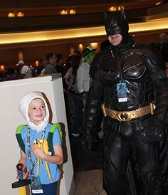 Batman & a young cosplayer -  If this is you, let me know and I will send you the full size files.