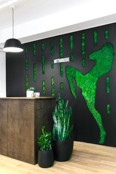 We added a little peaceful green to balance out your intense workouts at Hit House Muay Thai kickboxing fitness studio in NYC