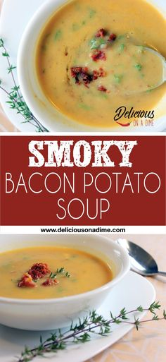Smoky Bacon Potato Soup - We made this last week and it was super easy and so delicious! I can't wait to make it again!