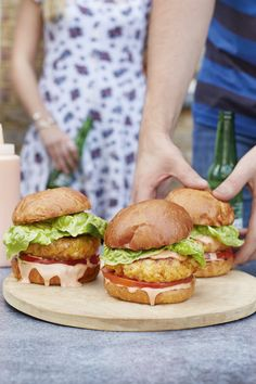 Grilled Prawn Cocktail Burgers | DonalSkehan.com, Terry & George created this very British addition to a summer bbq!