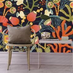 by Hanna Werning 'Korallang Grande Mural' by Hanna Werning is a stunning landscape mural samples are not available for murals easy paste the wall application mural is wide x high additional murals an be added for larger spaces Wallpaper Stores, Tile Wallpaper, Wallpaper Direct, Wallpaper Online, Wall Drawing, Inspirational Wallpapers, Painted Floors, Floral Wall, Flats