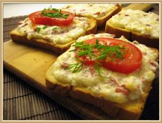 Bruschetta, Deli, Mashed Potatoes, Food And Drink, Snacks, Chicken, Cooking, Ethnic Recipes, Pastries