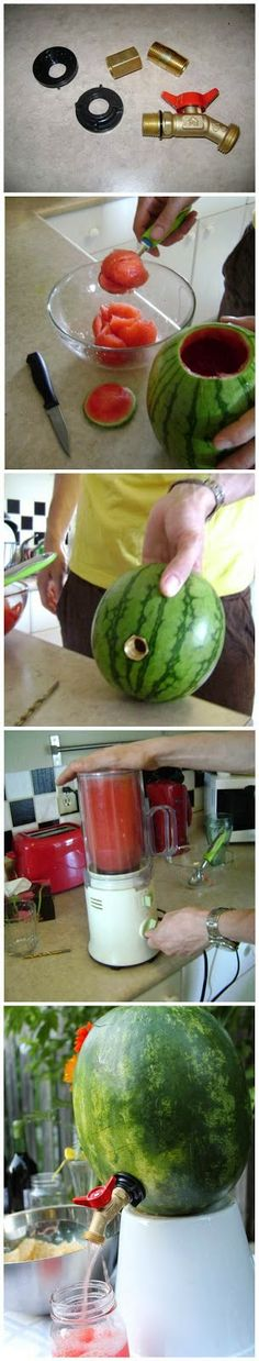 How to Make a Watermelon Keg   My Favorite Things