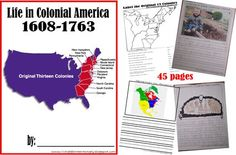 FREE Colonial America Worksheets for kids learning about early American Settlers. Plus lots of book recommendations and hands on educational activities (homeschool, history for kids) Kindergarten, 1st grade, 2nd grade, 3rd grade, 4th grade, 5th grade, 6th grade