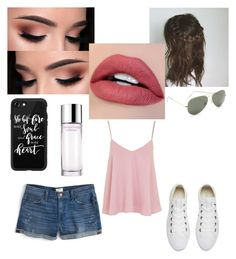 """Summer heat"" by oliviagrace14 on Polyvore featuring Casetify, Clinique, Converse, J.Crew, Ray-Ban and Topshop"