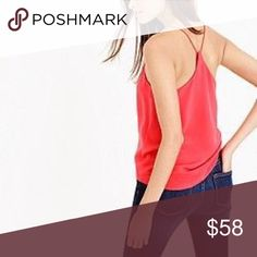 {J.Crew} camisole in red Excellent condition . Poppy red. Size 0. From factory J. Crew Tops Tank Tops
