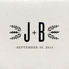 J+B Wedding Logo