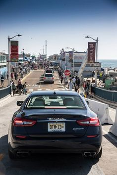 The Coast to Coast road trip draws to a close as the Quattroporte reaches #SantaMonica.