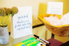 Our Constellation-Inspired Baby Shower, Event Planning: Bellwether Events, Calligraphy: Meant to Be Calligraphy, Photo Credit: The Observatory