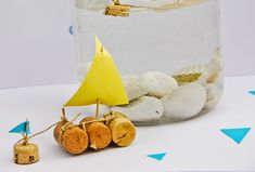 Simple and fun DIY project for kids - Cork Sailboat Aquarium