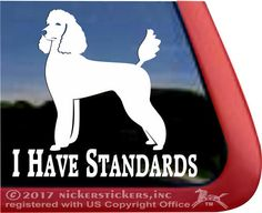 Beautiful Standard Poodle Decal by NickerStickers  #poodles #standardpoodles #ilovepoodles #ihavestandards #poodlelover #nickerstickers