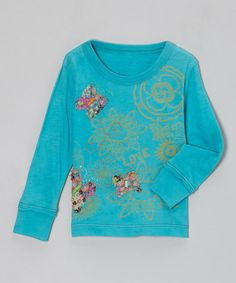 Take a look at this Turquoise Flight of the Butterflies Tee - Infant & Girls by Mimi & Maggie on #zulily today!