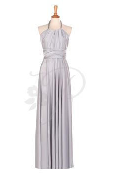 Bridesmaid Dress Infinity Dress Light Grey / Silver Floor Length Wrap Convertible Dress Wedding Dress by thepeppystudio on Etsy https://www.etsy.com/listing/193990135/bridesmaid-dress-infinity-dress-light
