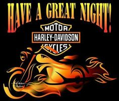 To all of our H-D family, have a good night. #grizzlyharley #harleydavidson #art