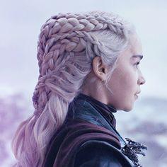 with moonglow in her hair Princess Braid, Toddler Braided Hairstyles, Braid Tool, Feyre And Rhysand, Game Of Throne Daenerys, Khaleesi, Daenerys Targaryen, Game Of Thrones Art, Game Of Thrones