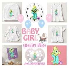 """Sleepy Baby Dino"" by jnccreations ❤ liked on Polyvore"