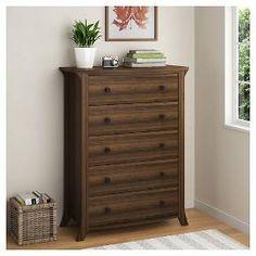Ameriwood Oakridge 5-Drawer Dresser - Warm Oak