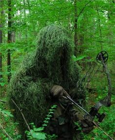 Synthetic Ultra-Light Ghillie Bow Hunting Jacket Right Hand Leafy Green 2XL
