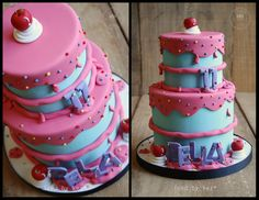 Image result for color drip cakes