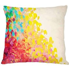 Dot & Bo Watercolor Throw Pillow (950 CZK) ❤ liked on Polyvore featuring home, home decor, throw pillows and watercolor throw pillows