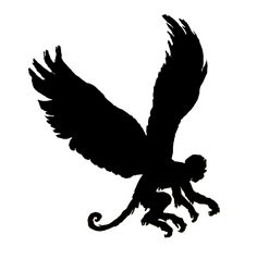 Flying monkey clip art