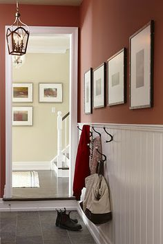 love this hallway from the laundry room/mudroom/garage