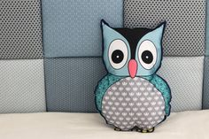 BLUE OWL PILLOW-Kids Pillow,Nursery Decor Pillow,Owl,animal pillow,Nursery bedding,Security object. This owl softy will quickly become your little one favorite cuddle buddy. Decorate your loved one nursery or children room with this beautiful owl pillow. With the use of digitally printed colorful owl on one side, soft cotton fabric on the other and zig zag stitch contour, this soft owl pillow is not only beautiful but is also sensory and visually stimulating so it will quickly become your...