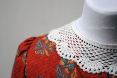 Romantic and exquisite accessories by Nastiin: white crochet lace collar detachable peter pan collar crochet collar