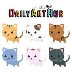 FREE Adorable Kittens Clip Art Set