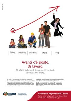 Advertising campaign for Regional Conference on Job #graphics #design #adv #advertising villaniandco.it
