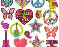 Retro Tree Clipart Clip Art, Vintage Trees Clip Art Clipart Vectors - Commercial and Personal Use Art Clipart, Vintage Clipart, Clip Art Vintage, Retro Vintage, Flower Clipart, Paz Hippie, Mundo Hippie, Hippie Kids, Vintage Embroidery