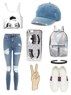 🖤Boardwalk and Chill🖤 by adelaide1101 on Polyvore featuring polyvore, fashion, style, Topshop, Gucci, Lucky Brand, Humble Chic, Mudd, Chiara Ferragni and clothing