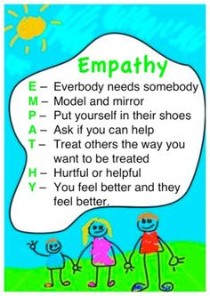 TEACHING YOUR CHILD EMPATHY Empathy means caring and understanding how others feel. When your baby was born, you started teaching empathy when you. Coping Skills, Social Skills, Relation D Aide, Teaching Empathy, Teaching Kids, Teaching Kindness, School Social Work, High School, Bulletins