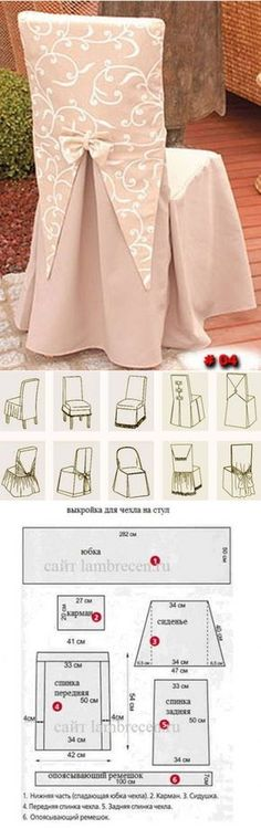 Sewing Upholstery: Chair Covers How to Clean Upholstery Ideas Beautiful, cushty furniture makes your Sewing Hacks, Sewing Crafts, Sewing Projects, Sewing Ideas, Furniture Covers, Chair Covers, Furniture Design, Hobbies And Crafts, Diy And Crafts